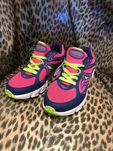Saucony Girls Kotaro Sneaker Little Kid/Big Kid,Purple/Pink/Green,6 W US Big K