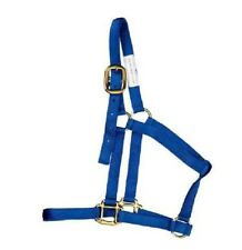 New Heartland Red Nylon+Gold Buckle Large Value Horse Halter Gear