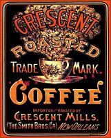 Crescent  Coffee 1930 New Orleans Advertisement Vintage Poster Print Kitchen Art