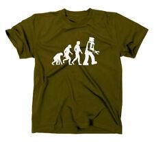 Something Somewhere Robot Evolution T-Shirt Nerd Geek Darwin Big Bang Theory