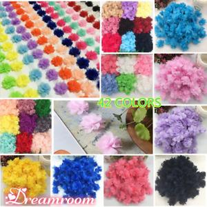 1 Yard, Flowers Chiffon Lace Edge Trim Ribbon Wedding Appliques DIY Sewing BF32