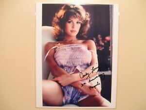 CANDY LOVING PLAYBOY autograph SIGNED8.5 x 11 Photo