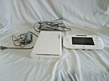 Nintendo Wii u Console WUP-001 (02) And Gamepad WUP-010 (USA) Working White 8GB