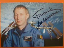 .Frank De Winne (BE), Astronaut - ESA Autogrammkarte signiert