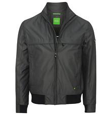 Véritable homme hugo boss vert sport veste d'extérieur noir m rrp £ 280 (jadon 17)