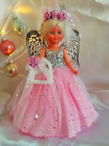 Christmas Fairy/Angel Tree topper Vintage Doll Christmas Decoration