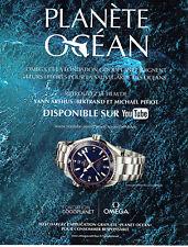Publicité Advertising 068  2014    montre Omega  seamaster Planet Ocean