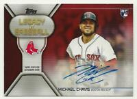2019 Topps Update MICHAEL CHAVIS Legacy of Baseball Auto RED 25/25 Red Sox RC