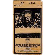 JESUS CHRIST SUPERSTAR Ticket Stub LAS VEGAS NEVADA 12/6/71 CC ROTUNDA Rare