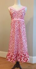 NEW Hanna Andersson Women Red/Pink Flowers White Dress Sz 4 $78