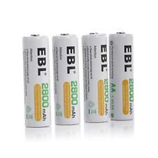 EBL AA Rechargeable Batteries 4-Pack 2800mAh Ni-MH 1.2V High Capacity 1200 Cy...