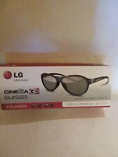 LG Cinema 3D Glasses 2 Pair A G-F310 Free Shipping
