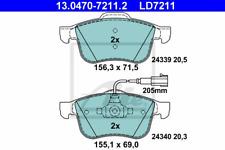 Bremsbelagsatz Scheibenbremse ATE Ceramic - ATE 13.0470-7211.2