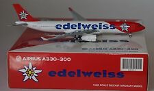 JC Wings LH4024 Airbus A330-343 Edelweiss Airlines HB-JHQ in 1:400