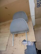 ROVER 25 2003 PRE FACELIFT PAIR OF FRONT GREY TEXTILE HEADRESTS