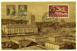 Zwitserland luchtpost Lausanne 2 Gare Dépôt 25-2-1935 Switzerland Airmail