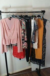 Womens Ladies Clothes Bundle Size 6 Midi Lace Dress Shirt Pants Top Tshirt CC1