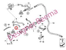 BMW serie 3' 1' E81 E87 E88 E82 E90 Manguera De Presión Sistema de inyección de combustible (JS)