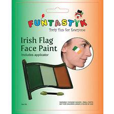 NEW ST PATRICKS DAY IRISH FLAG FACE PAINT MAKE KIT FANCY DRESS