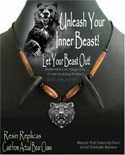 UNLEASH YOUR INNER BEAST BEAR CLAW NECKLACE - GRIZZLY HAT BAND - FREE SHIP NEW'