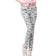 Women Full Length Coloured Casual HAREM Pants SKINNY Fit Trousers Size 6-14 Pink 6