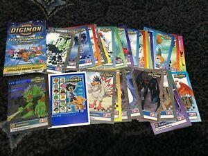 Digimon Trading Card Set Base Set & Checklist 1999 Upper deck 35 Cards