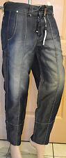 très joli pantalon 3/4  femme en lin bleu jeans HIGH USE taille 38 TOUT NEUF