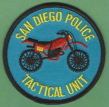SAN DIEGO CALIFORNIA POLICE TACTICAL UNIT MOTORCYCLE PATCH