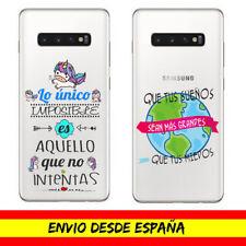 Funda Movil Cases Samsung Frases Bonitas Unicornios Cover Dibujo Cartoon