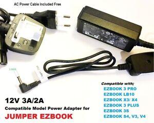 EZBOOK Laptop Charger, 12V 3A for JUMPER EZBOOK X3, EZBOOK X4 EZ Book