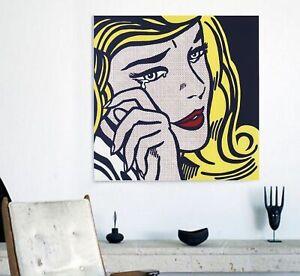 80 cm Ohne Rahmen Kunst Roy Lichtenstein Abstrakte Poster Pop Art Leinwand Malerei Wandkunst Bilder F/ür Wohnzimmer 40