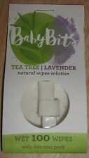 Baby Bits Wipes Solution - Makes 100 Natural Wipes, New Free Shipping Trial Pack