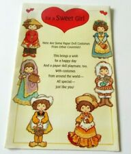 Vtg Paper Doll Greeting Card Valentine's Card Costumes from Other Countries