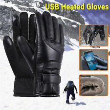 USB Electric Heated Gloves Hand Thermal Warmer Rechargeable Glove for Men Women