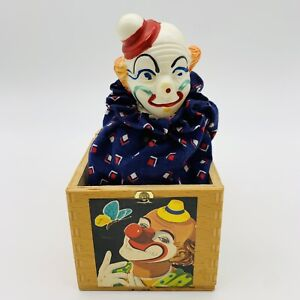 Vintage1960's Celluloid Clown Jack-in-the-Box Herman Eichhorn Made In Germany