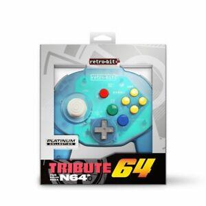 Retro Bit Tribute64 Gaming Controller - N64A Port Retro gaming Remote