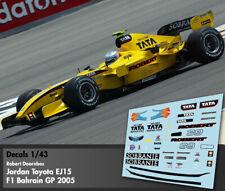 Decals 1/43 - F1 - Robert Doornbos - Jordan Toyota EJ15 - Bahrain GP 2005