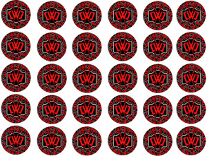 """CHAD WILD CLAY CWC INSPIRED 30 X 1.5"""" EDIBLE WAFER / ICING CUPCAKE TOPPERS"""