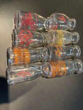 8 Vintage Glass Milk Bottles - Dairy, Half Pint