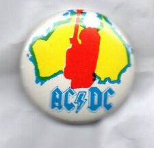AC/DC - BUTTON BADGE Australian Rock Band - Back In Black, Thunderstruck  25MM