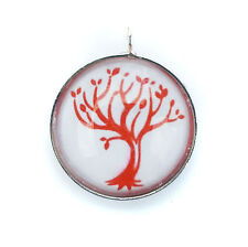 Divergent Faction Amity Glass Bubble Pendant with FREE Leather Necklace