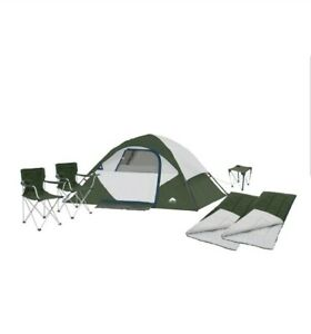 *NEW* Ozark Trail RV Camping Combo Instant Tent, Chairs, Sleeping Bags, Table