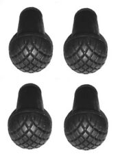 Pack of 4 Slip On Rubber Tips For The Solid Aluminum Walking Cane - IMPROVED
