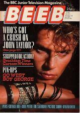 BEEB Magazine No.18  28 May - 3 June 1985    John Taylor    Boy George   Go West