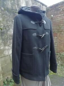 Marks & Spencer Black Wool Blend Duffle Short Hood Coat Coat 8... NWT RRP £69