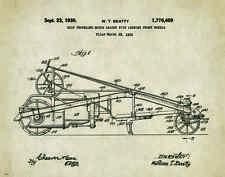 Road Grader Patent Art Print Poster Construction Equipment Vintage Parts  PAT279