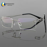2da9f2a709a New Titanium Alloy Rimless Flexible Reading Glasses UV400 Coating Lens  Reader