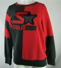 Starter Women's Red/Black Pullover Sweatshirt With Logo On Front