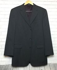 Alfani Men's Charcoal Gray Suit Coat/Jacket 42L 100% Wool