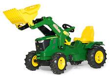 Rolly Toys John Deere 6210R Trettraktor, Frontlader, 3-8 Jahre, Luftbereifung
